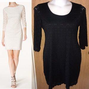 ⬇️Black Ronni Nicole Day Lace shift dress